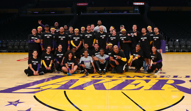 Lakers and Pechanga Host Hoops for Troops Basketball Clinics