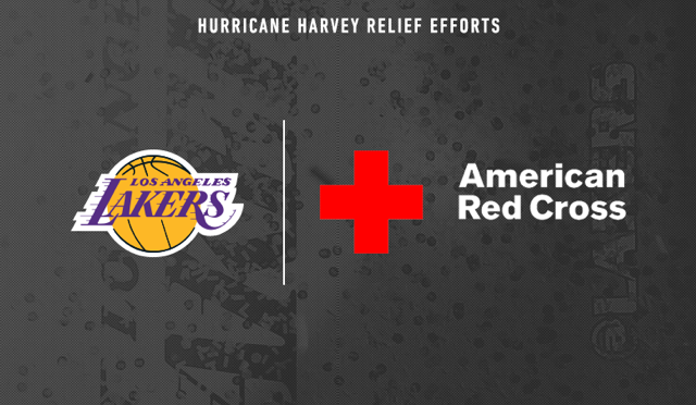 Lakers Donate to Red Cross For Hurricane Harvey Relief Efforts