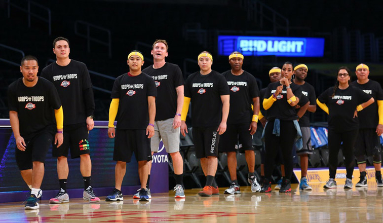 d70347ceb9b So Cal Military to Learn B-Ball Skills From Lakers Pros. Los Angeles ...