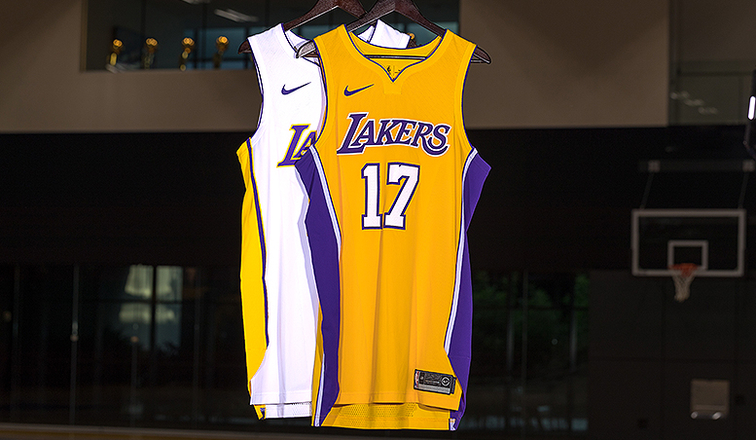58c46228988 Lakers Unveil New Nike Uniforms