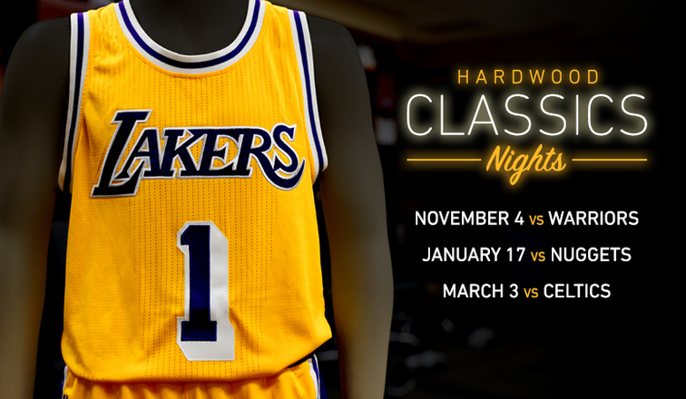 6c703a4846f Lakers To Wear Hardwood Classics Uniforms