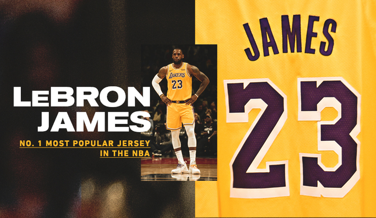 c3eba872023 LeBron's Jersey Most Popular in NBA; Lakers Top Team Merchandise List