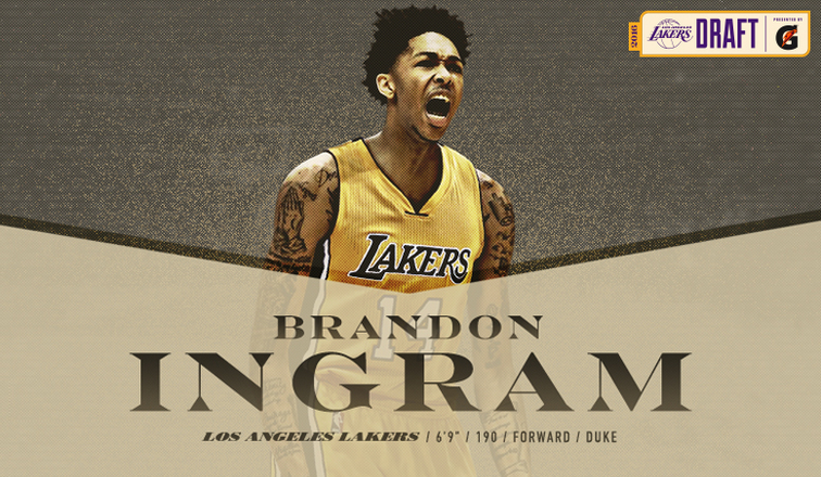 Lakers Draft Brandon Ingram with No. 2 Pick | Los Angeles Lakers