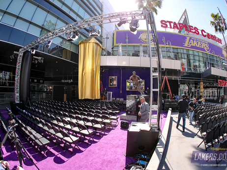 Shaquille O'Neal Statue Unveiling