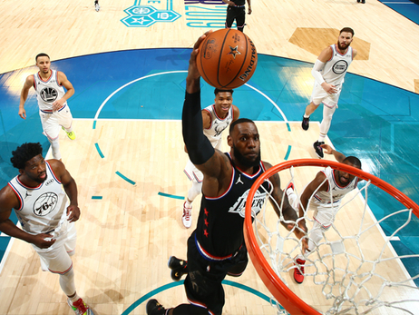 LeBron Dunks His Way to All-Star Victory