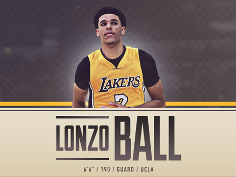 Lakers Draft Lonzo Ball with Second Overall Pick