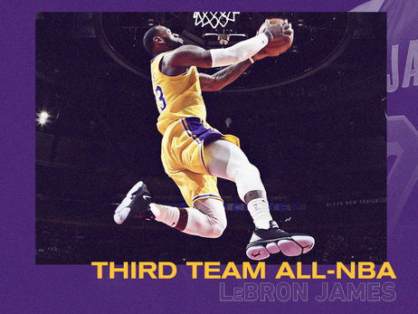 LeBron James Named to All-NBA Third Team