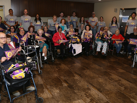 Lakers Team Up with Senior Center