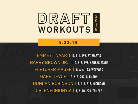 Lakers Draft Workouts: May 22, 2018