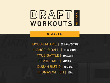 Lakers Draft Workouts: May 29, 2018