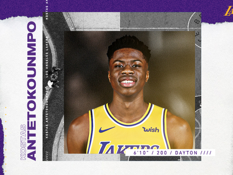 Lakers Awarded Kostas Antetokounmpo on Waiver Claim