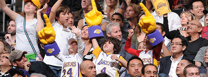 Lakers Fans cheering