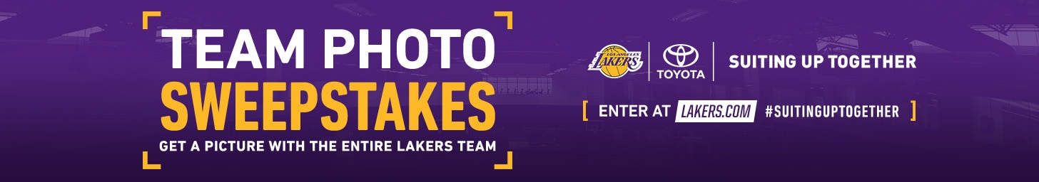 Lakers Team Picture Sweepstakes Presented by Toyota