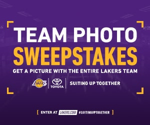Lakers Team Photo Sweepstakes