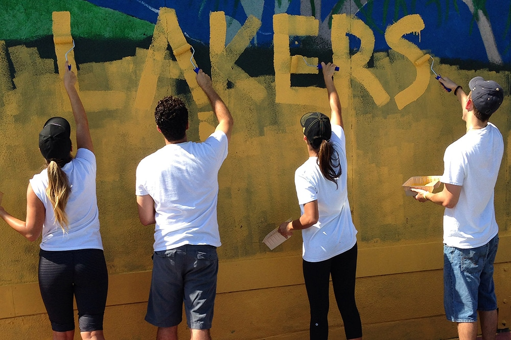 Lakers Team Up at LA Works Day
