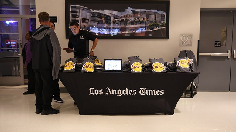 LA Times Booth - Subscription Offer with Free Premium Item