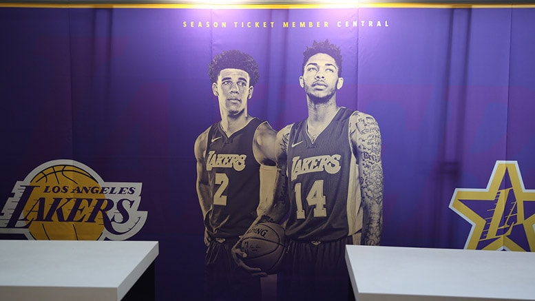 Lakers Season Ticket Member Booth