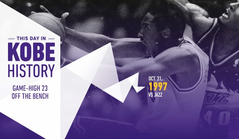 This Day in Kobe History: October 31
