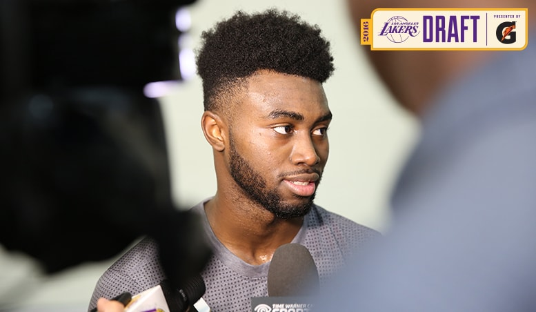 Jaylen Brown Works Out for the Lakers