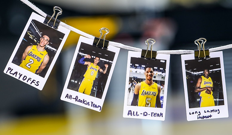 Lakers Rookies Set Goals for Season | Los Angeles Lakers