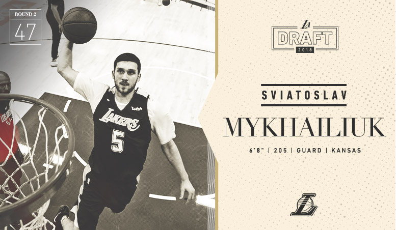 Lakers Select Sviatoslav Mykhailiuk With Draft's 47th Pick