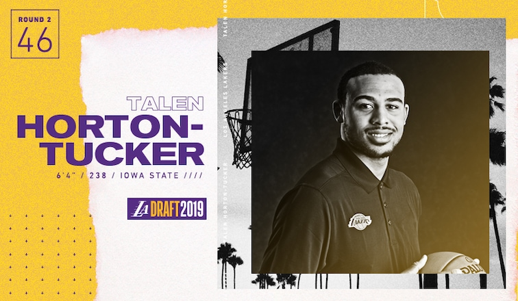 Lakers acquire draft rights for Talen Horton-Tucker, 46th pick in the 2019 NBA Draft