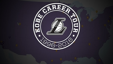Kobe Career Tour Map