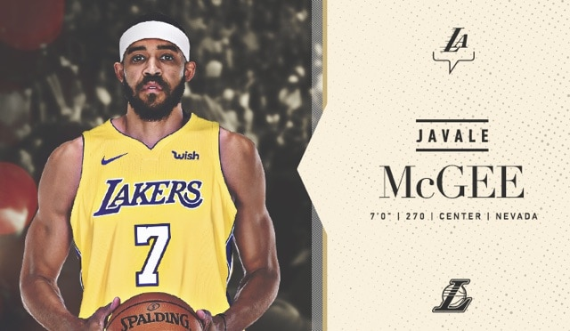 low priced eaf60 144e5 Latest Laker: JaVale McGee | Los Angeles Lakers