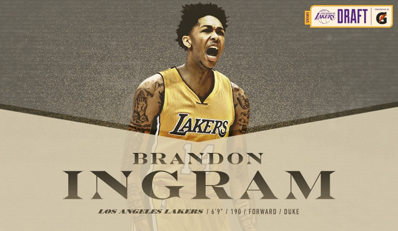 Lakers Select Brandon Ingram with Second Overall Pick