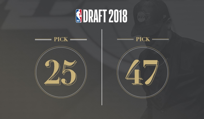 Lakers Own 25th, 47th Picks of 2018 DraftLakers Own 25th, 47th Picks of 2018 Draft - Los Angeles Lakers - 웹