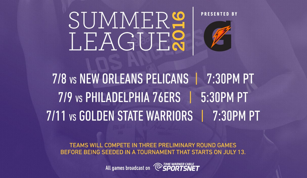 lakers announce 2016 summer league schedule | los angeles lakers