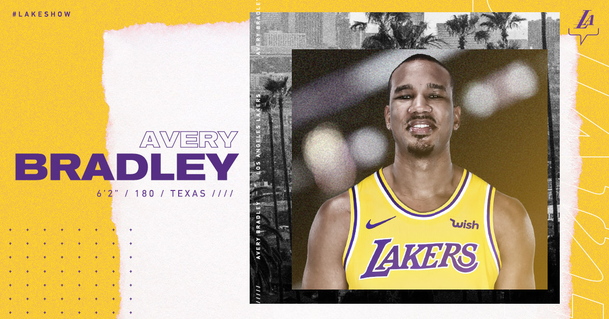 Lakers Sign Avery Bradley | Los Angeles Lakers