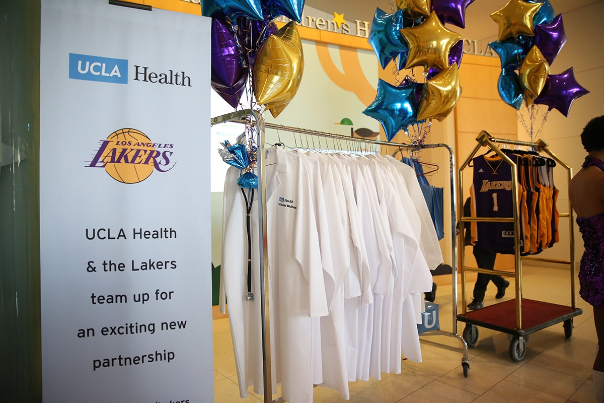 Los Angeles Lakers Visit Ronald Reagan UCLA Medical Center