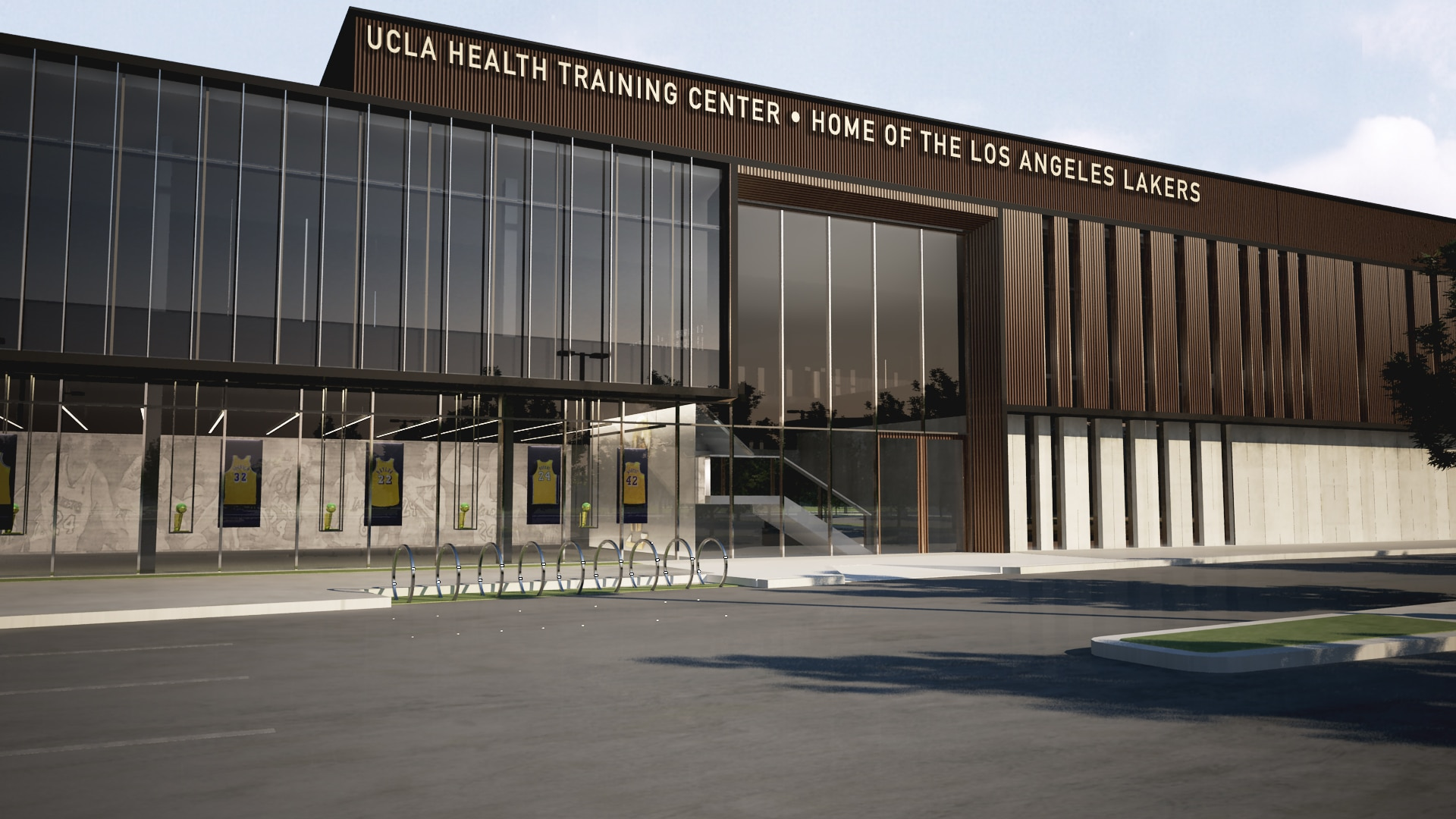 Exterior view of the UCLA Health Training Center