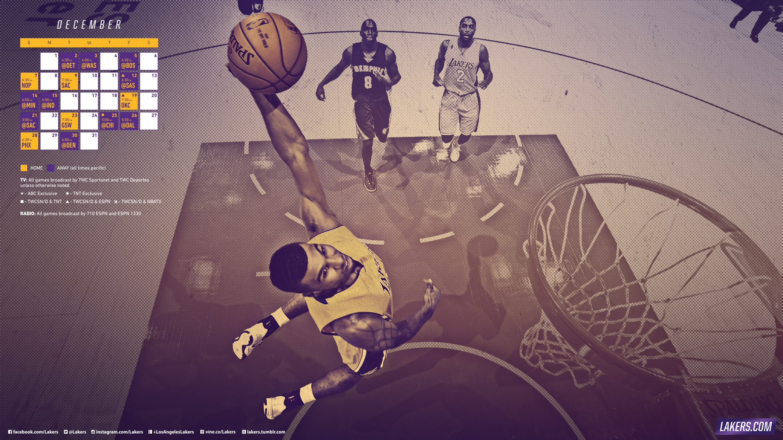 Lakers December Schedule Wallpapers
