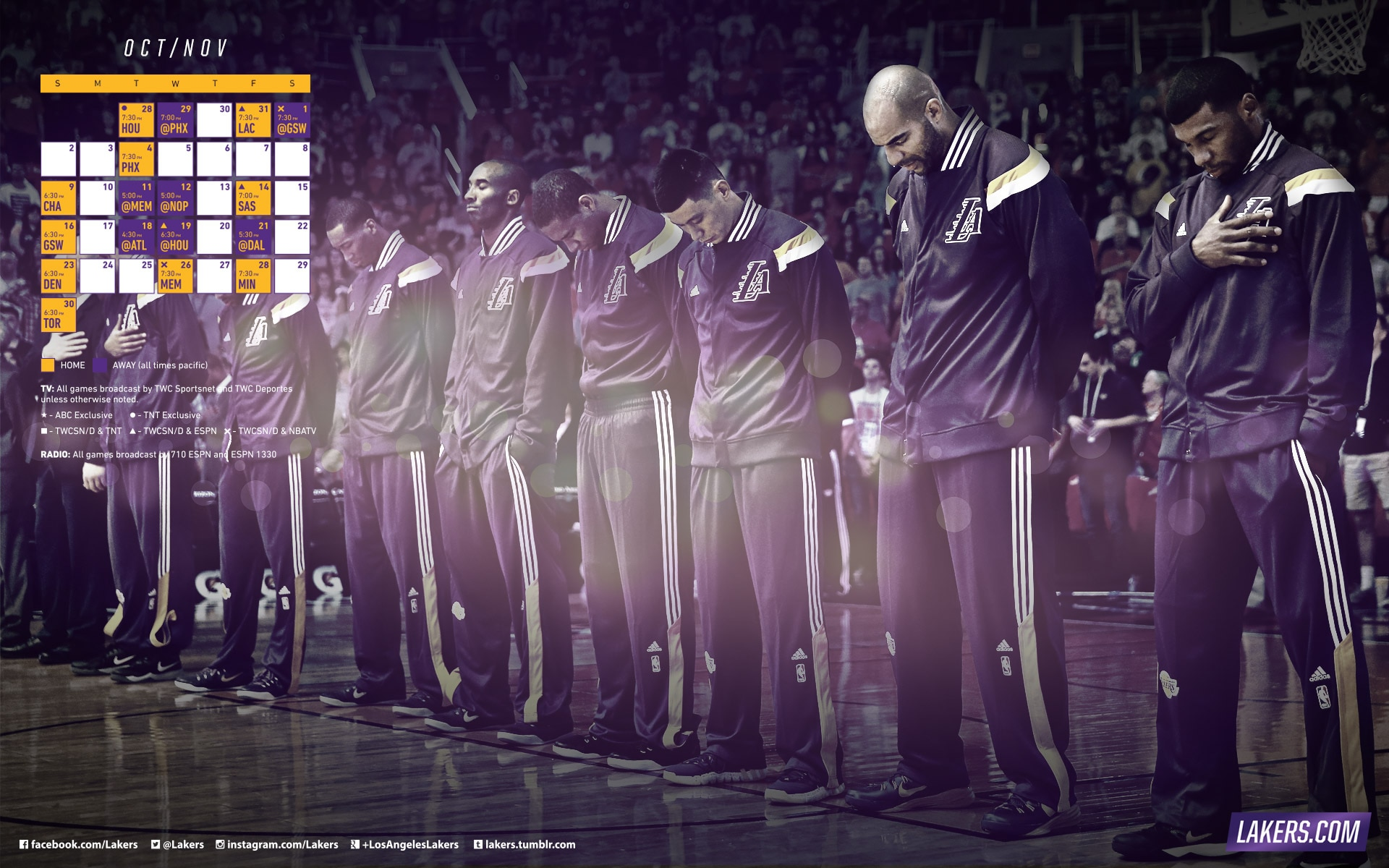 Lakers October and November Schedule Wallpapers