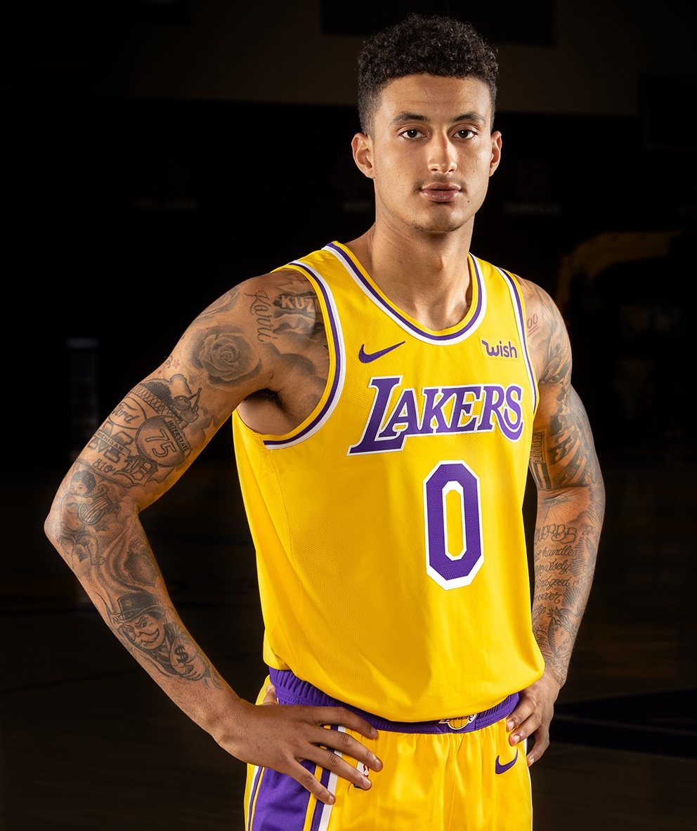 8a62ad2c7e6 Kyle Kuzma in the Lakers Icon Uniform