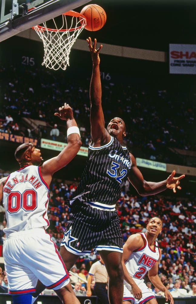 best service a1b2e e876c shaq, history, Orlando Magic.  10 April 23, 1993 at Nets While Nick  Anderson carried the team with his