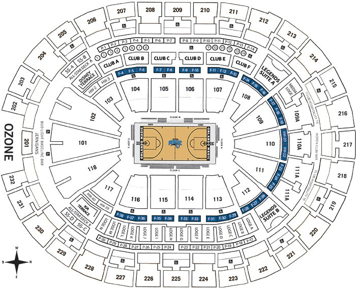 Founders Suites Seating Chart - Amway Center