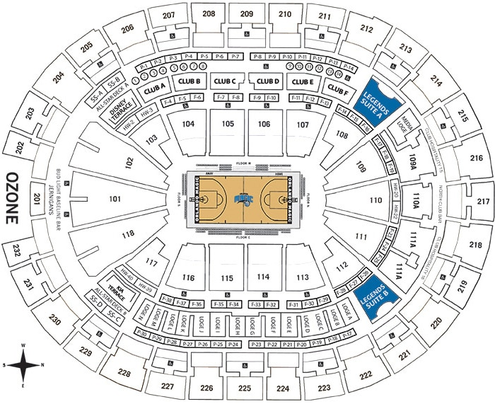 Legends Suites Chart - Amway Center