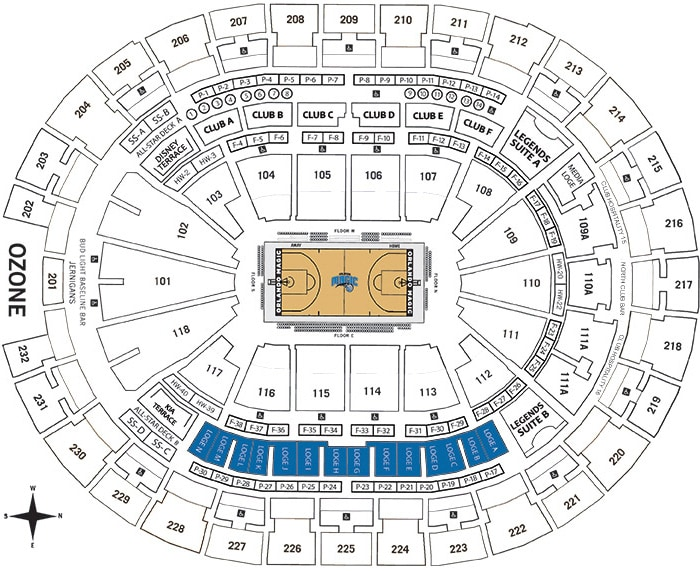 Loge Seating Chart - Amway Center