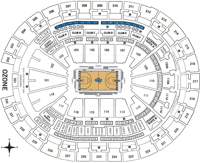 Presidents Suites Seating Chart - Amway Center