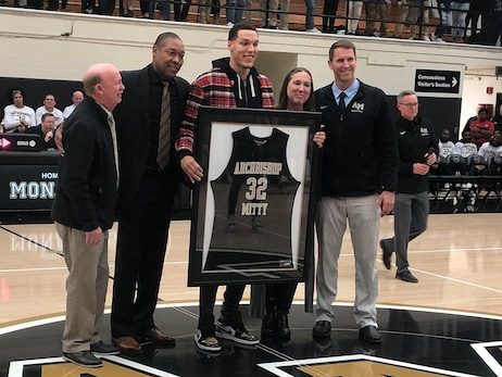 Aaron Gordon Celebrated at Archbishop Mitty With High School Jersey Retirement
