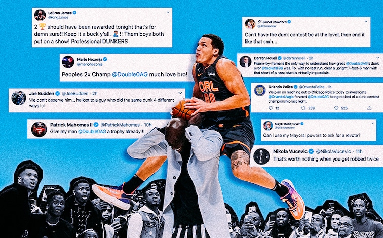 Twitter Reactions to A.G.'s Dunk Contest