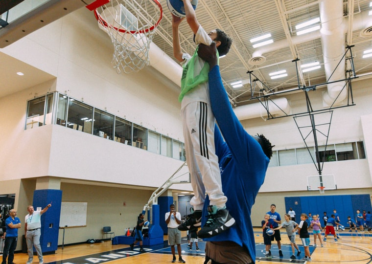 Bamba Surprises Magic Youth Academy Basketball Campers