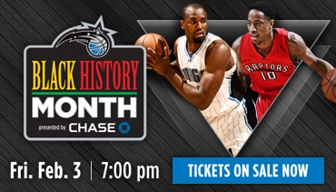 Black History Month - Raptors vs. Magic- Feb.3 at 7:00pm - Tickets On Sale Now