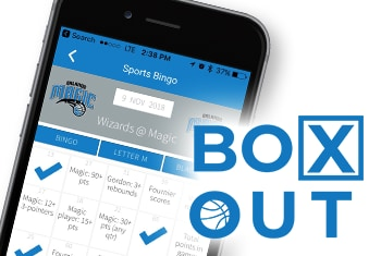 Orlando Magic App Box Out Bingo Game