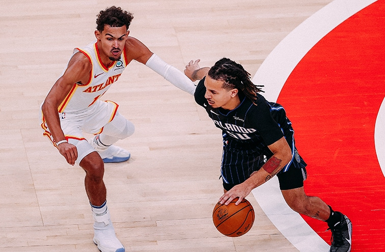 Trae Young and Cole Anthony