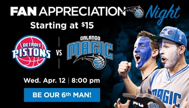 Seats Starting at $15 - Hornets vs. Magic - Wed. Mar. 22 7:00pm - See It Live