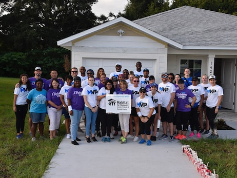 Magic and Jewett Orthopaedic Team Up to Beautify Habitat for Humanity Home